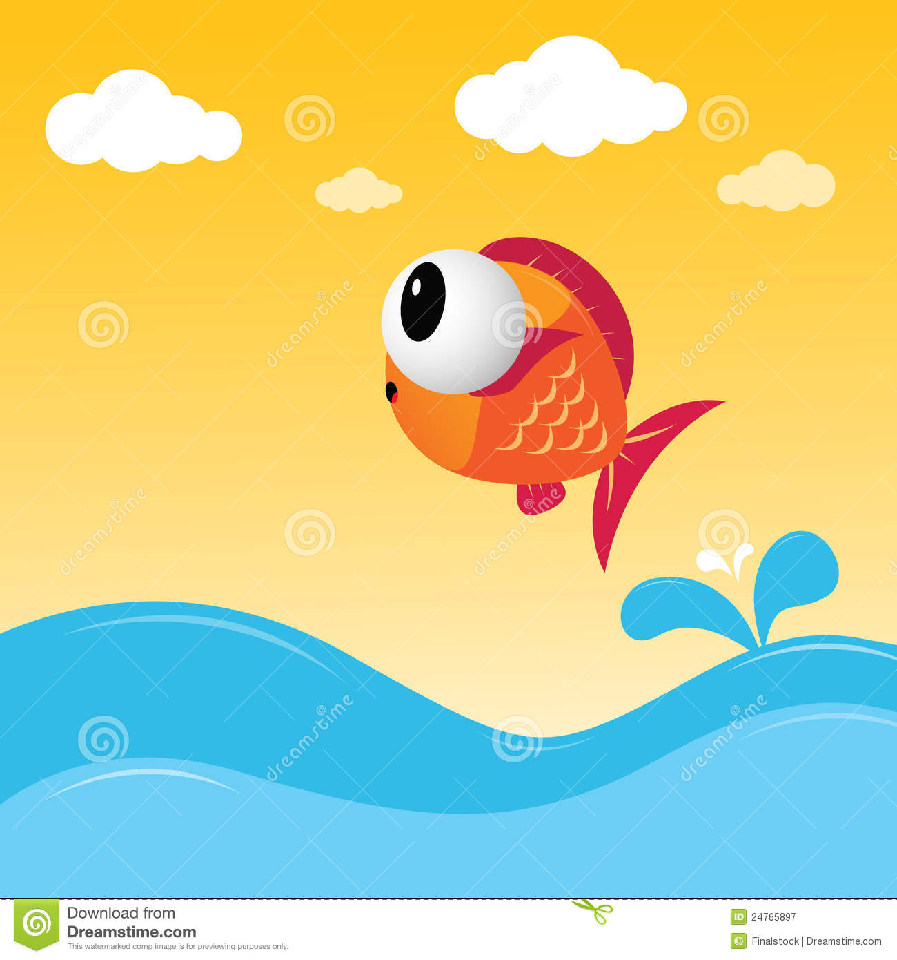 Fish jumping out of the water royalty free stock for Dream about fish out of water