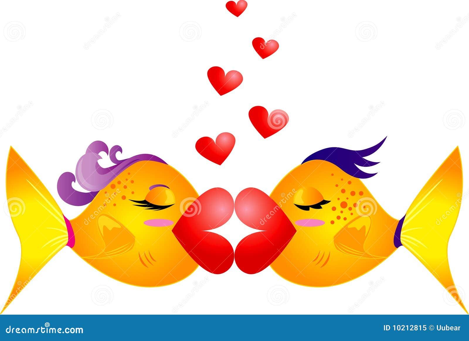 Fish Kiss Royalty Free Stock Photo - Image: 10212815