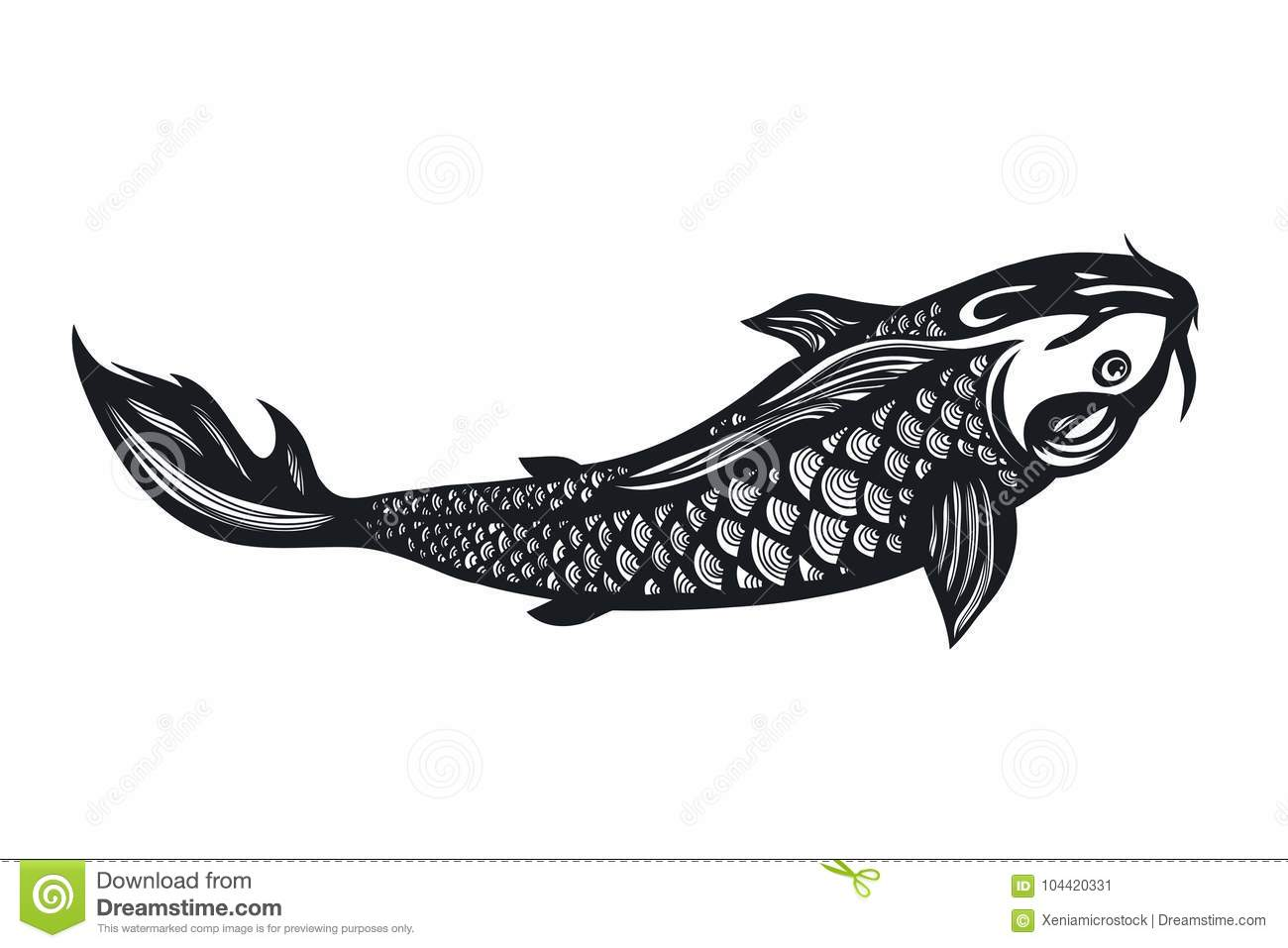 Fish Koi Carp Chinese Symbol Of Good Luck Courage Persistence