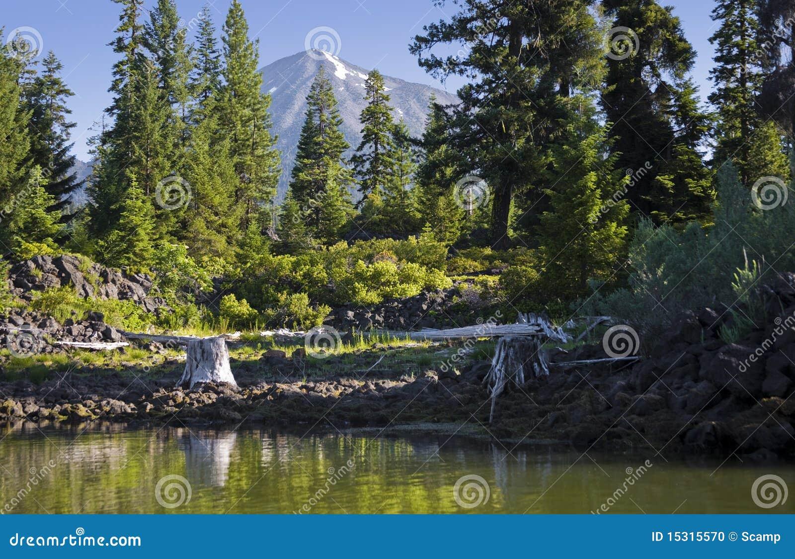 Fish lake oregon stock photo image 15315570 for Clear lake oregon fishing