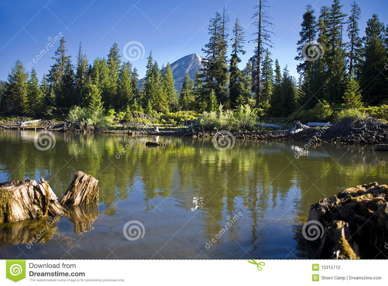 Fish lake oregon stock photography image 15315712 for Oregon free fishing