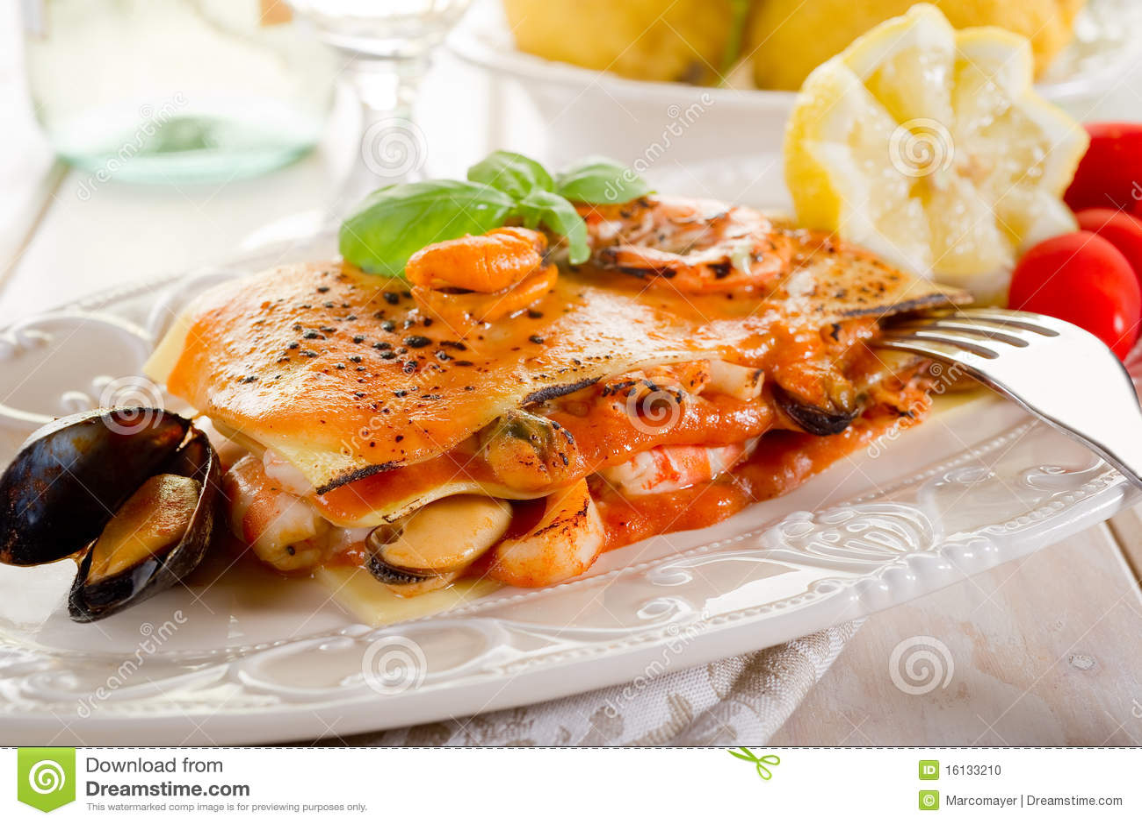 Fish Lasagne Stock Photo Image 16133210