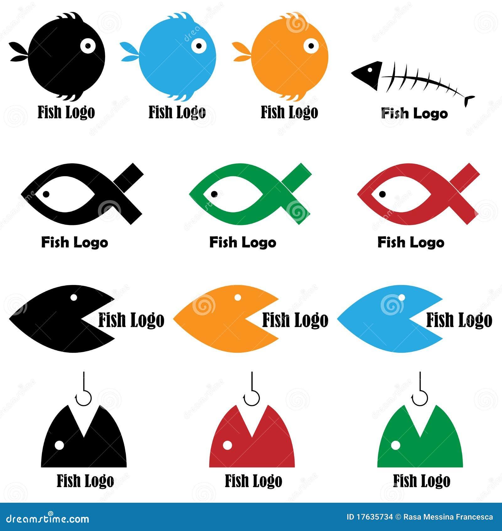 Fish Logos Stock Vector. Illustration Of Logos, Green