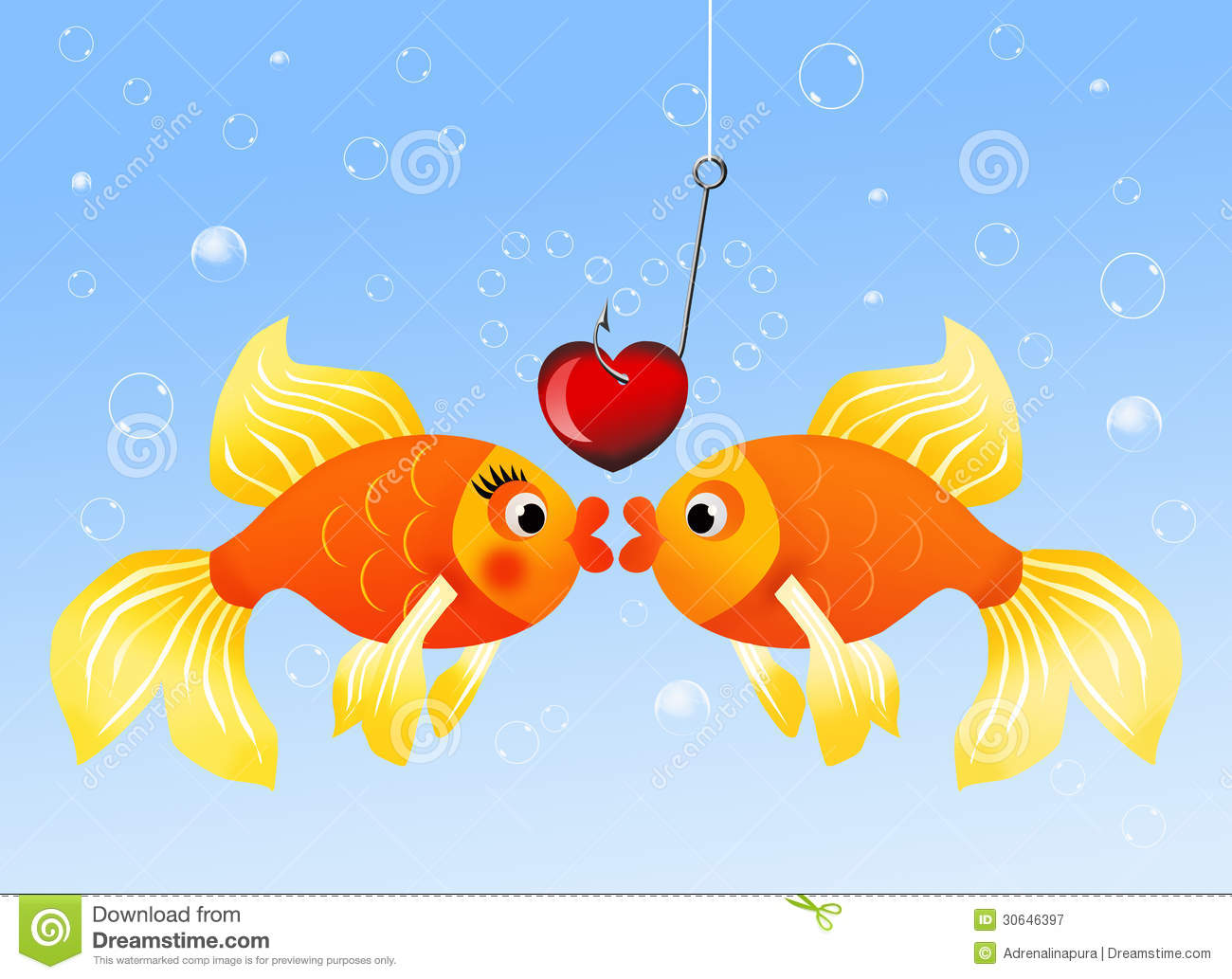 Fish in love royalty free stock photography image 30646397 for I love the fishes