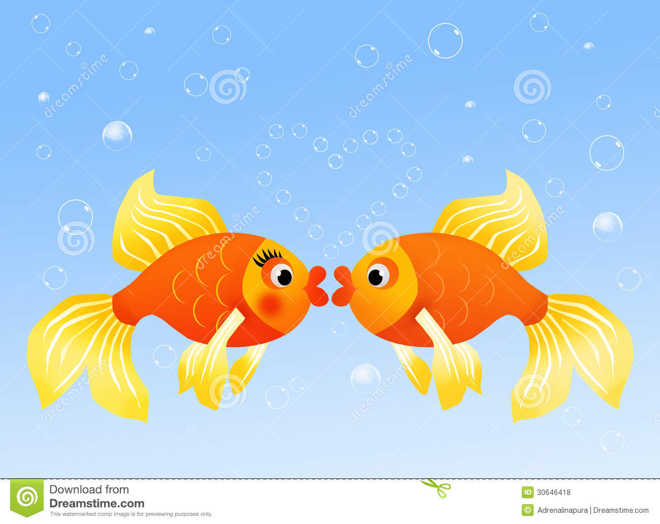 Fish in love royalty free stock photos image 30646418 for I love the fishes
