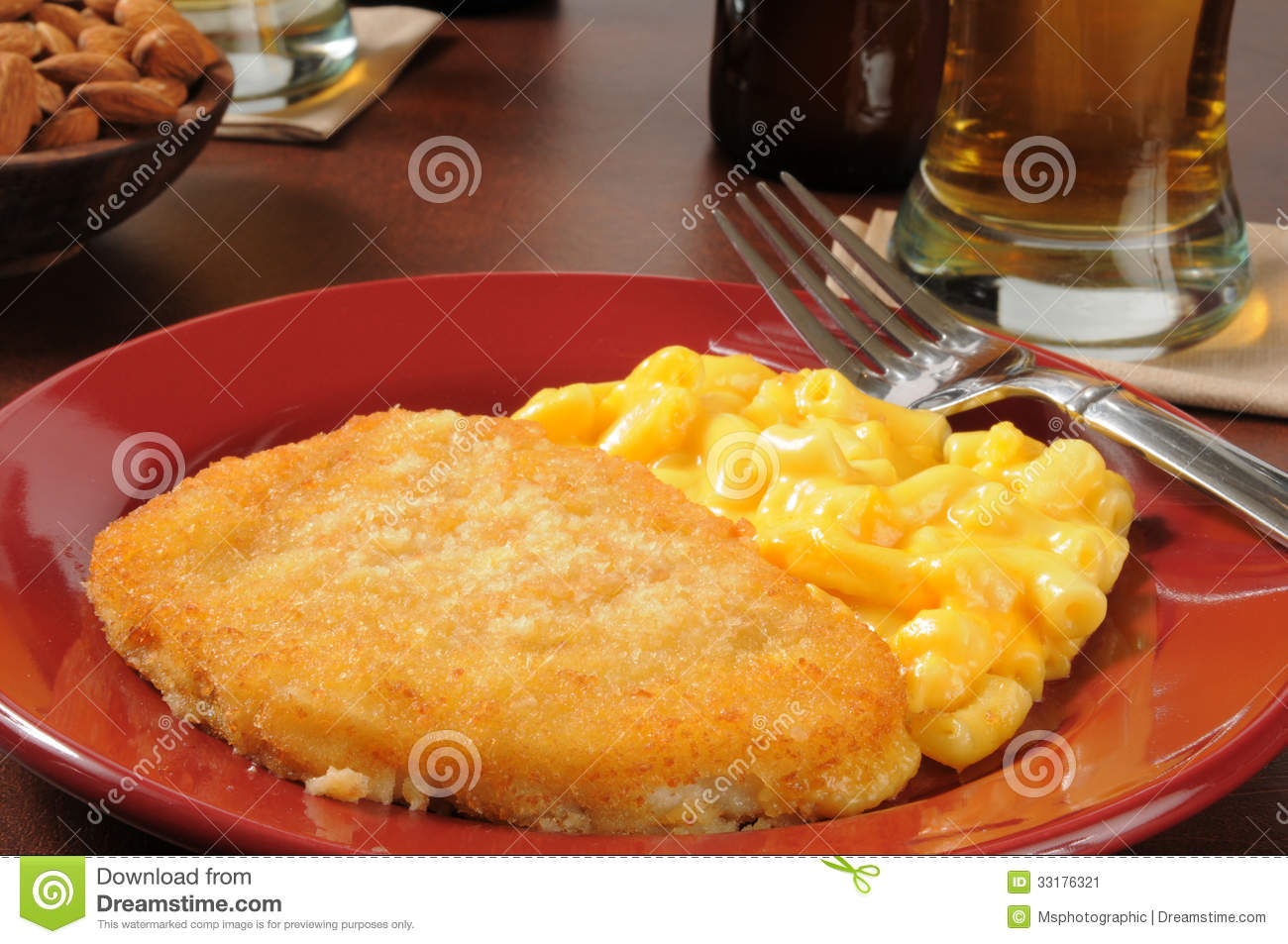Fish with macaroni and cheese stock image image 33176321 for Fish and cheese