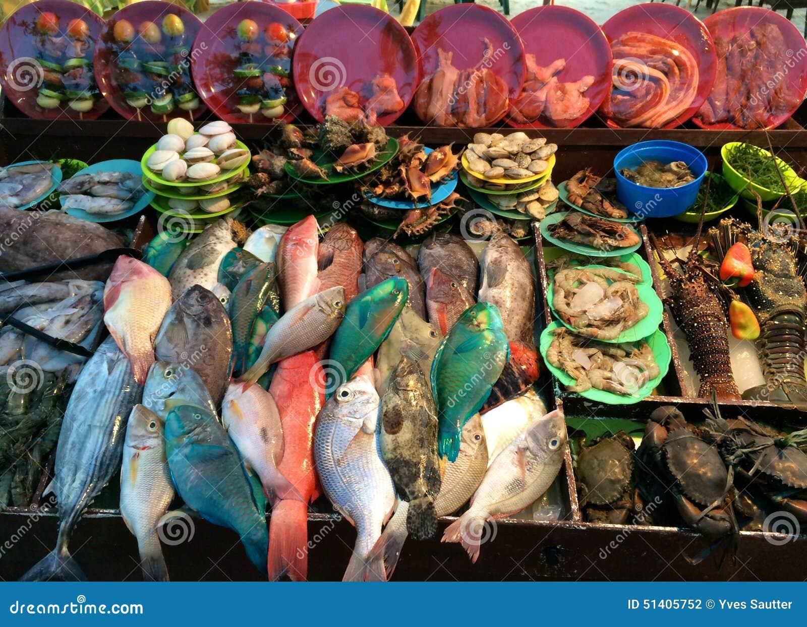 Fish Market, Alona Beach, Panglao Philippines Stock Photo - Image: 51405752