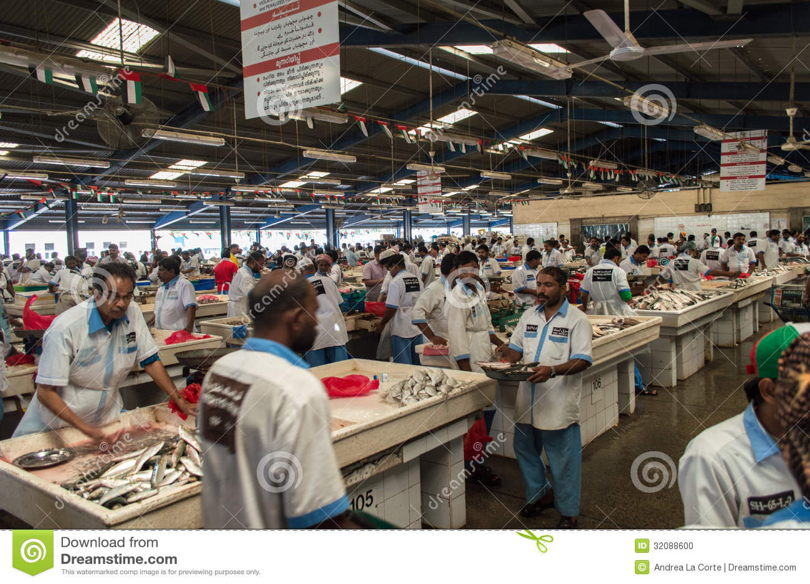 Fish Market Editorial Image Image 32088600