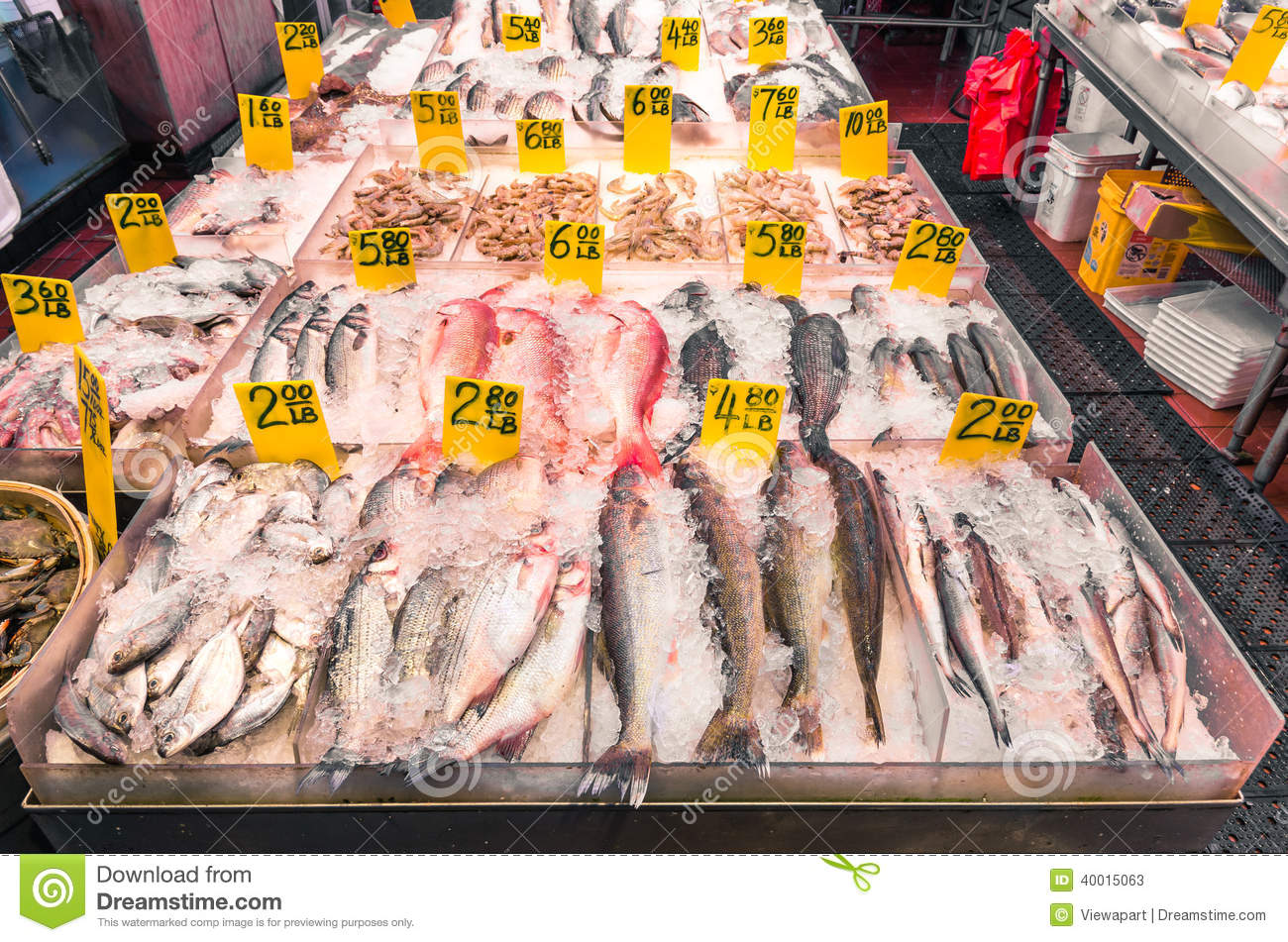 Fish market in the heart of chinatown new york editorial for Oriental fish market