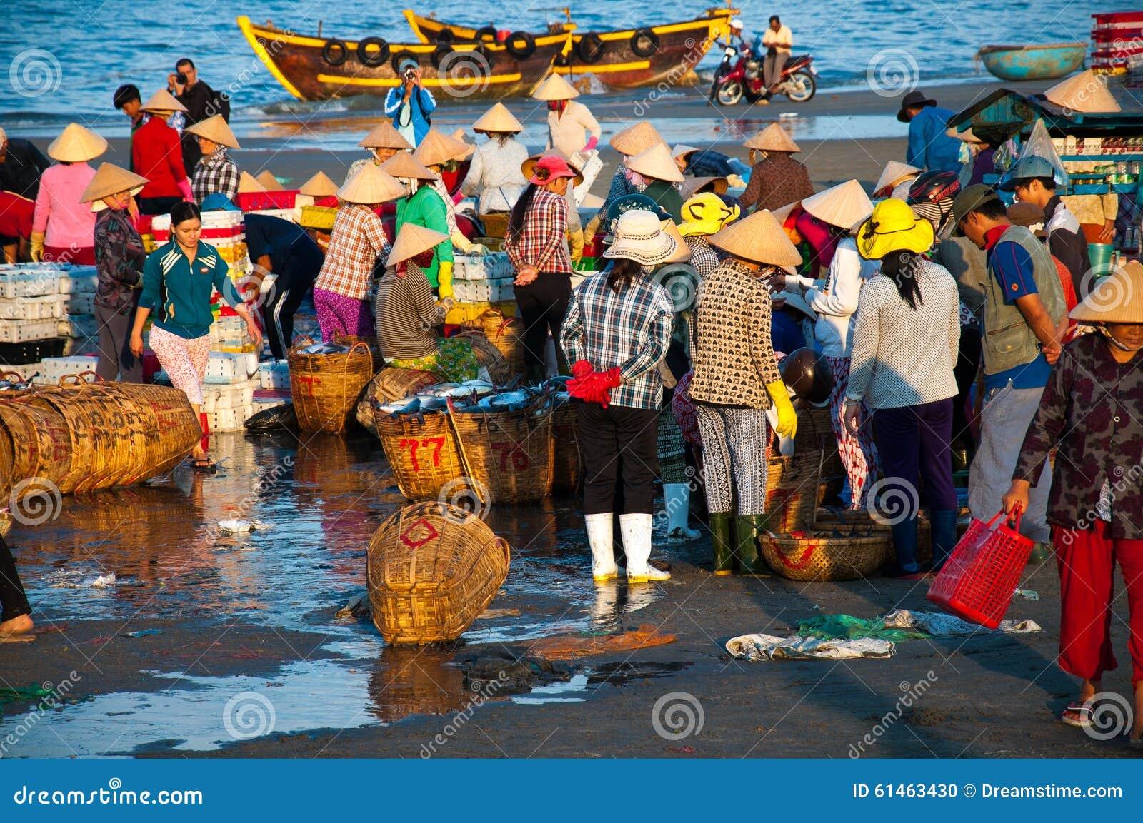 fish market in long hai vietnam editorial image image of travel