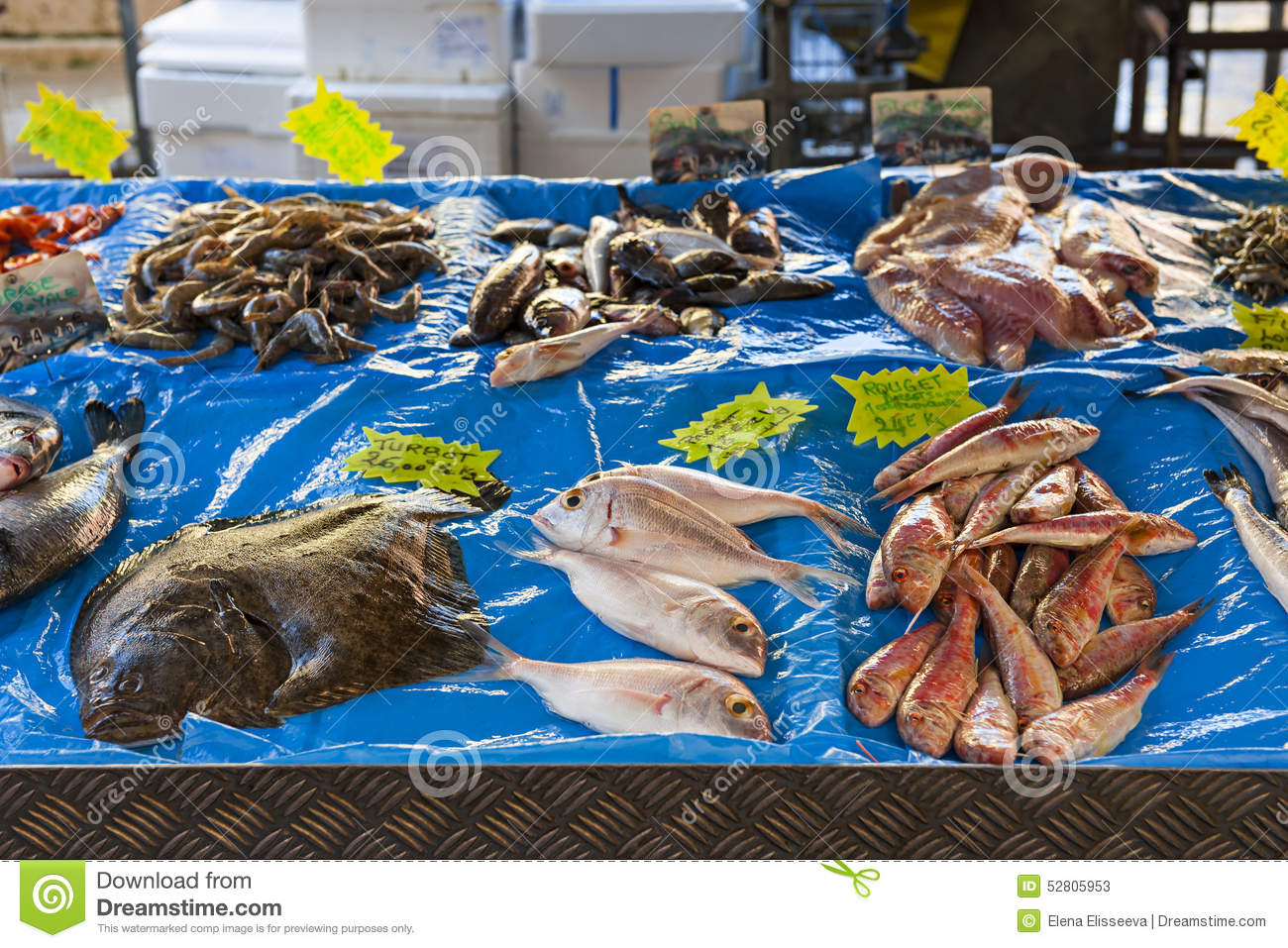 Fish market in old nice stock image image of cuisine for Outdoor fish for sale