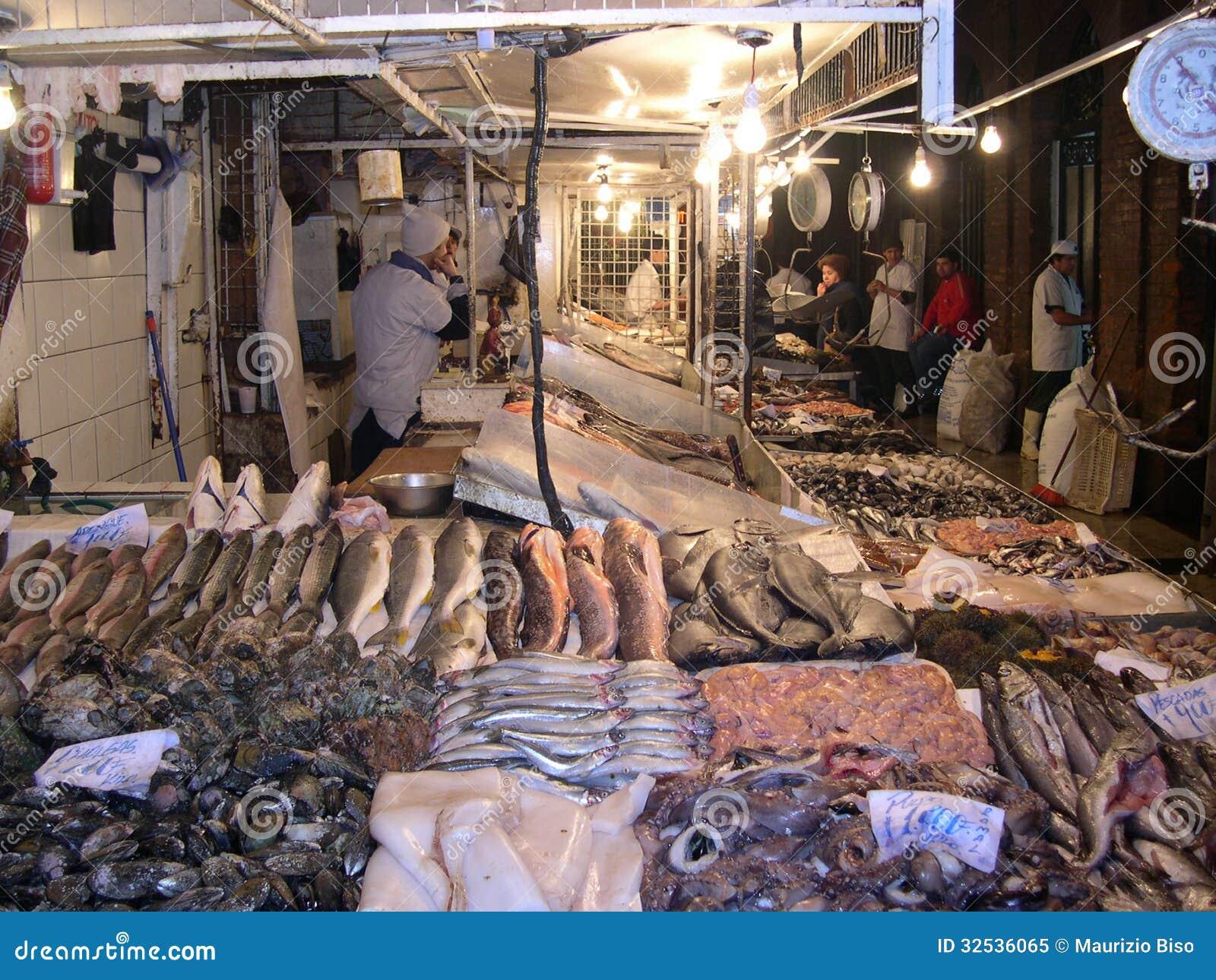 Fish market santiago de chile editorial image image for Nearest fresh fish market