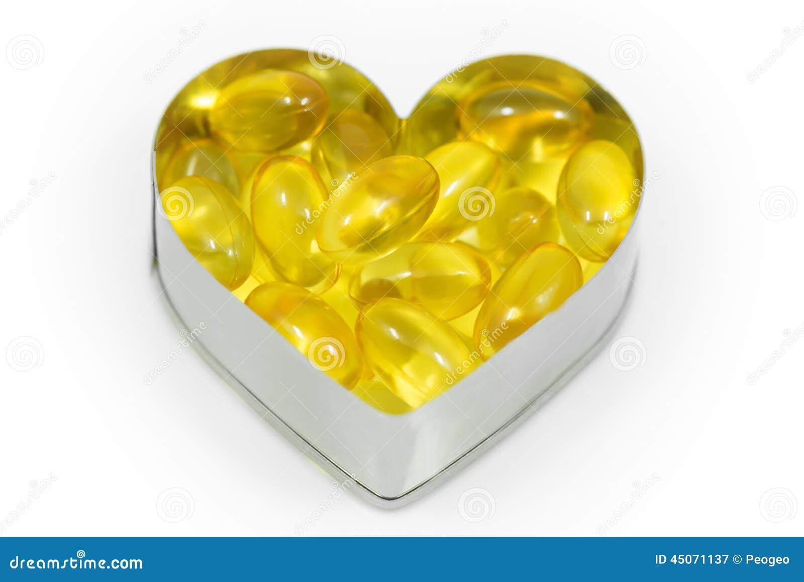 Fish oil on heart