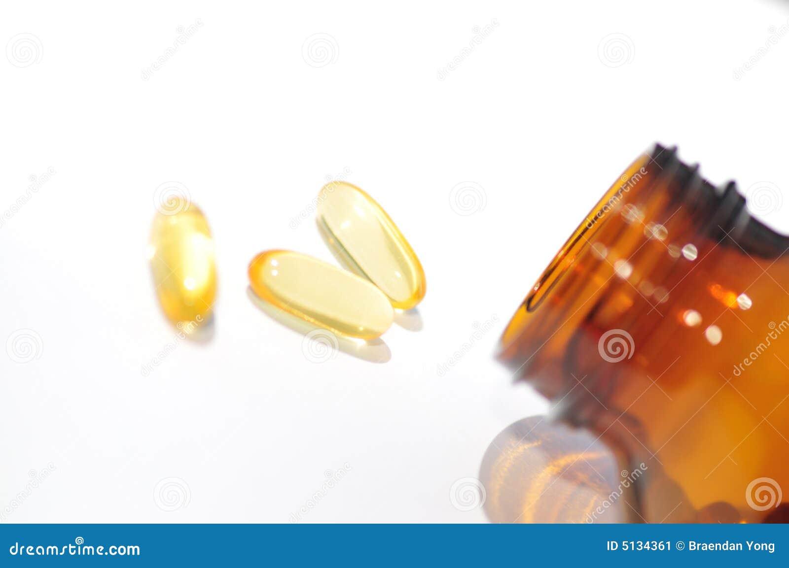 Fish Oil Supplements II Stock Image - Image: 5134361