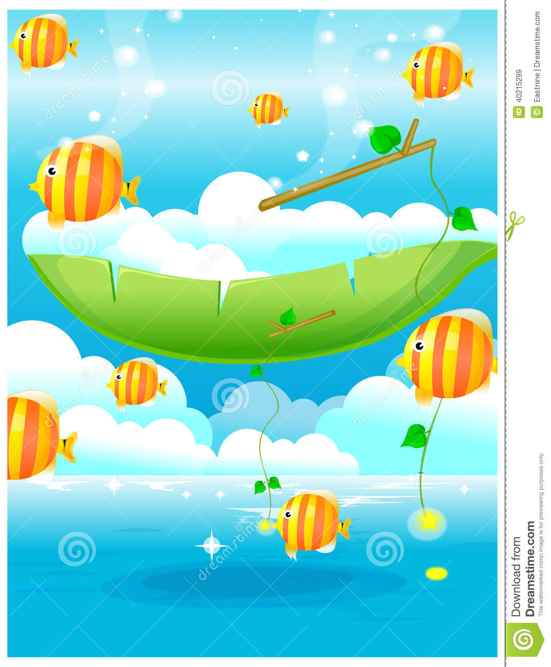 Fish out of water stock illustration image 40215299 for Dream about fish out of water