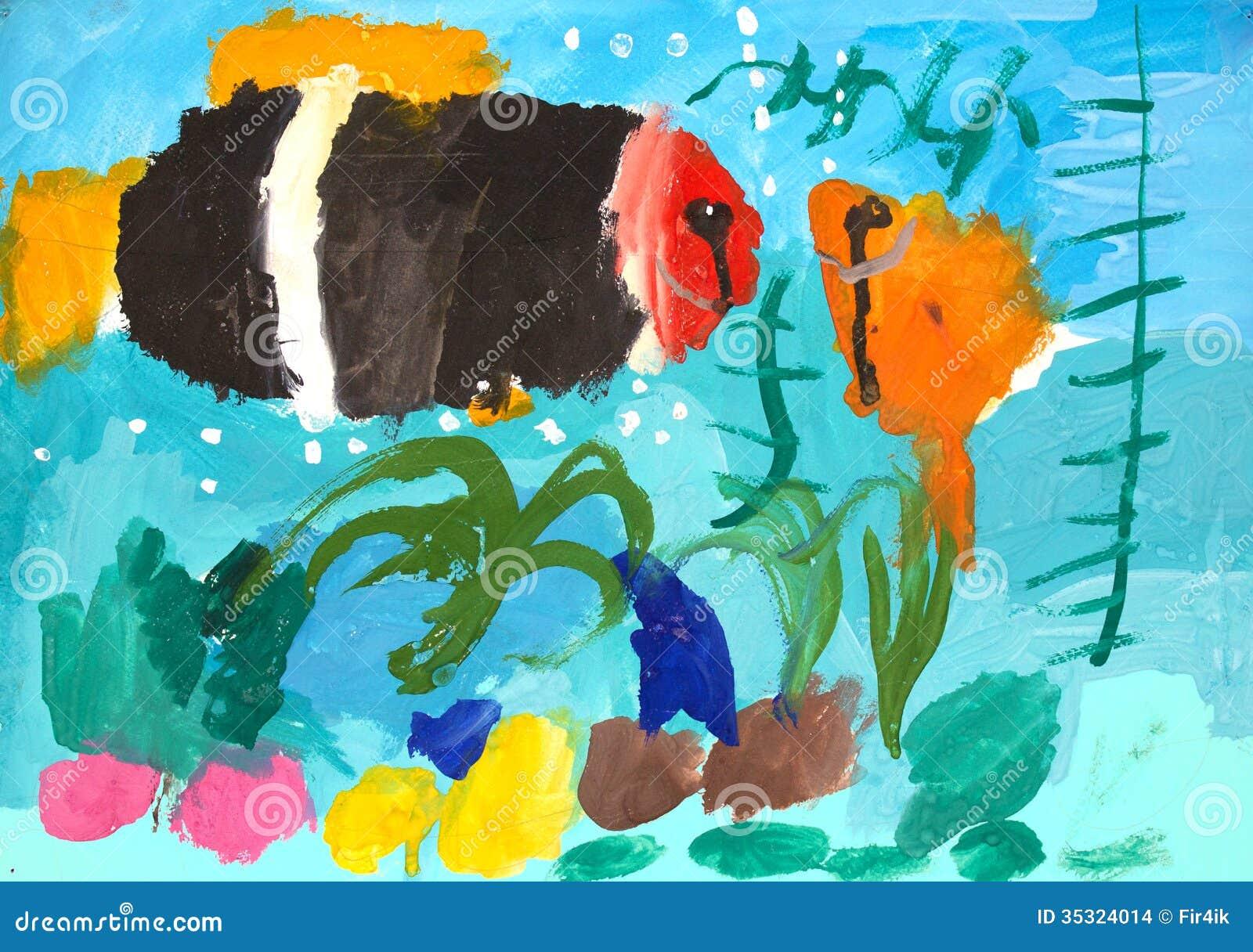 Kids Painted Fish Kids Painted Fish