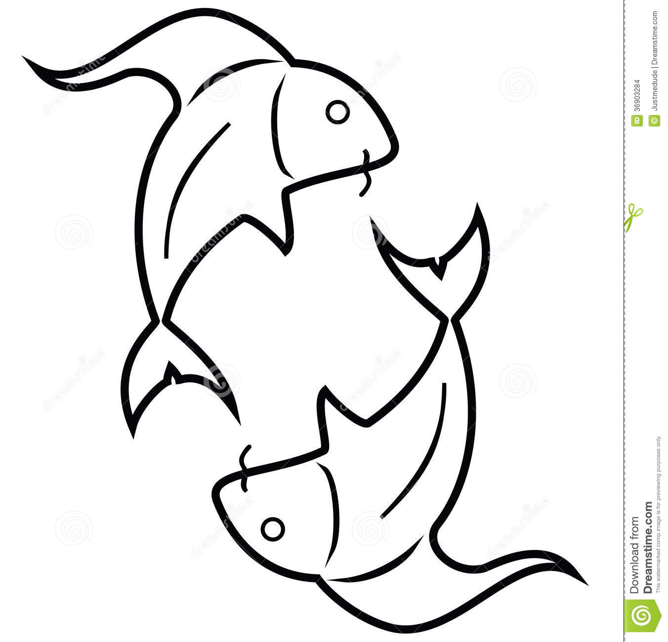 Fish pisces stock vector illustration of simple birthday 36903284 fish pisces biocorpaavc Choice Image