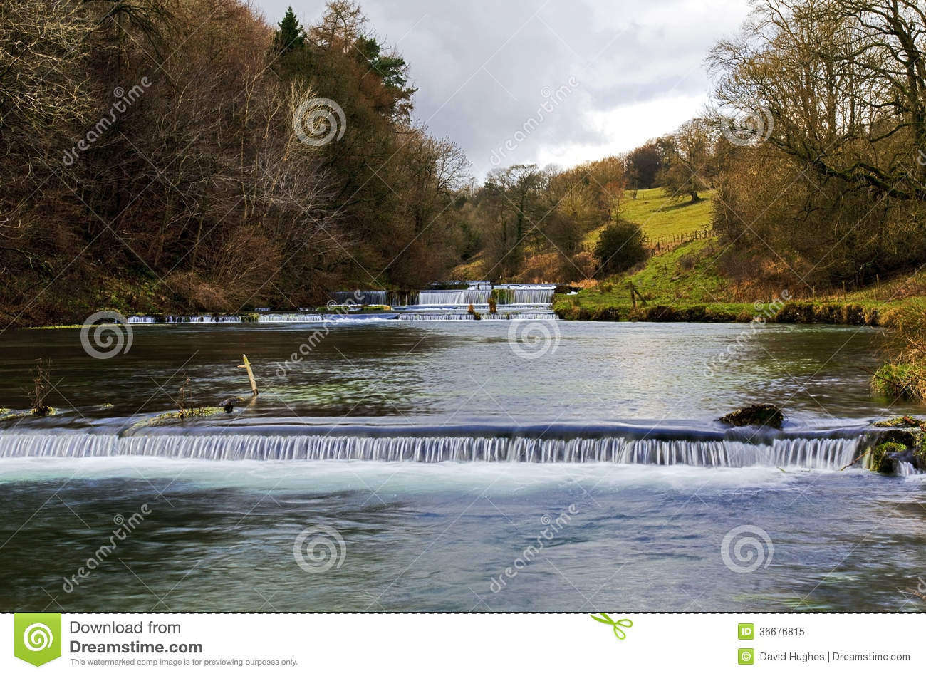 Fish ponds and weirs lathkill dale stock image image for Peak fishing times