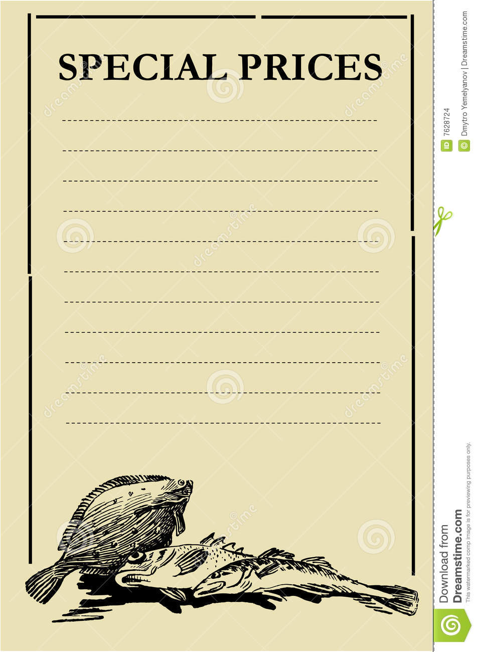 Fish priceboard stock images image 7628724 for Fish stocking prices