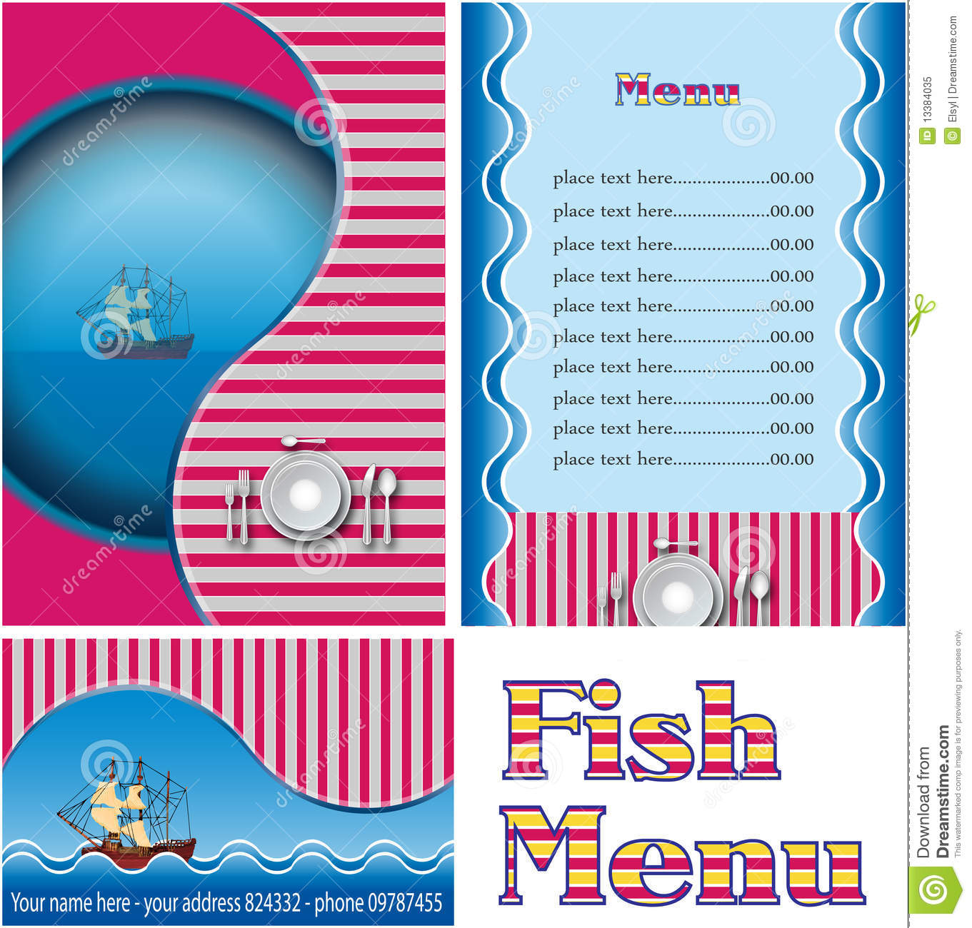 Fish restaurant menu royalty free stock photo image for Max fish menu