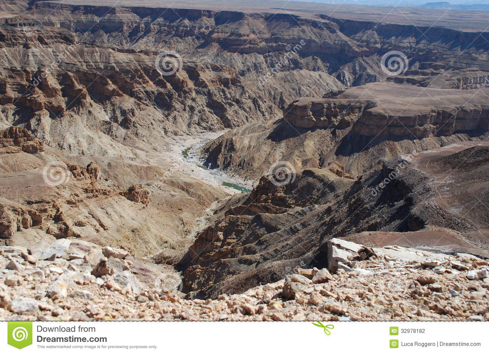 Fish River Canyon. South Namibia Stock Photo - Image of ...