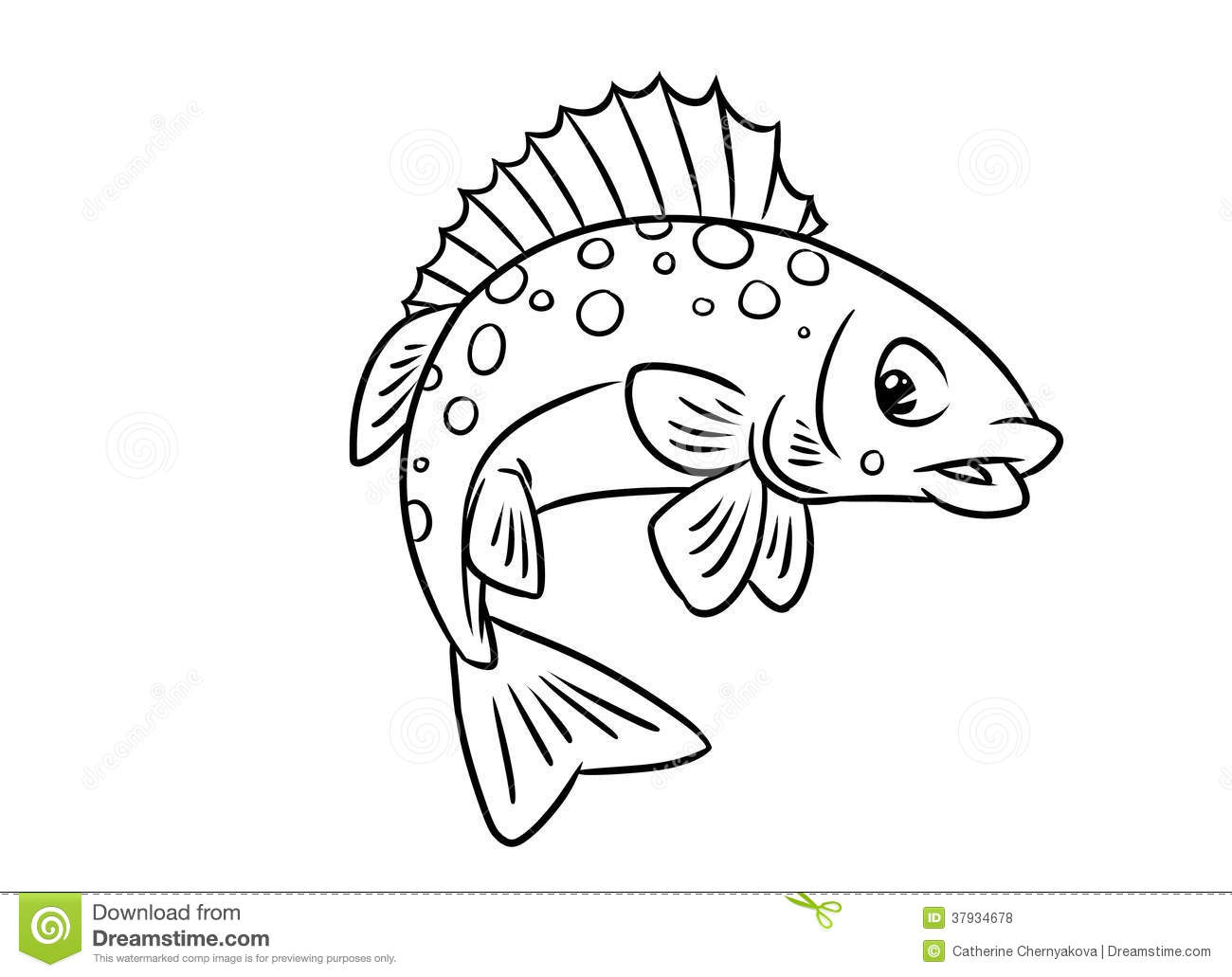 Fish Ruff Coloring Pages Royalty Free Stock Photo