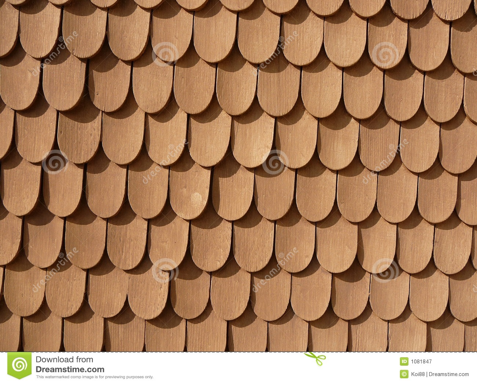 Fish Scale Design on Wall (Schachen Haus)
