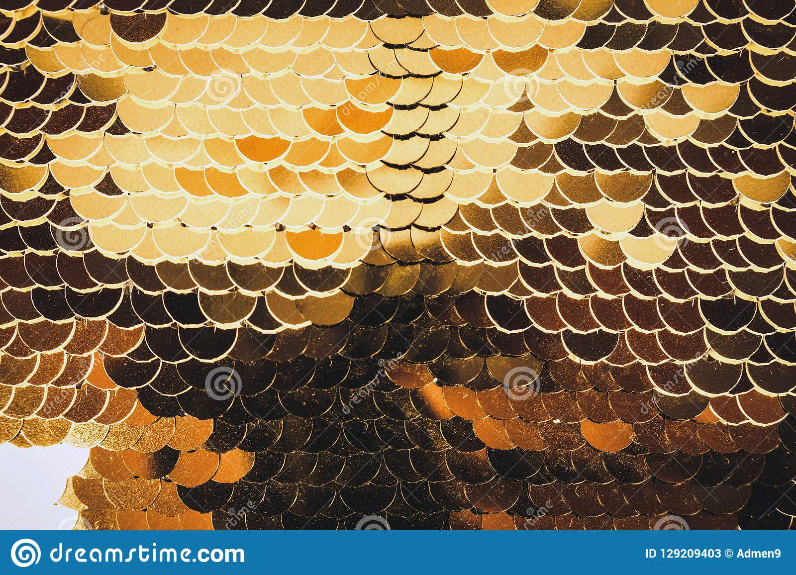 Fish scales golden shiny shimmers in different colors. Glamorous