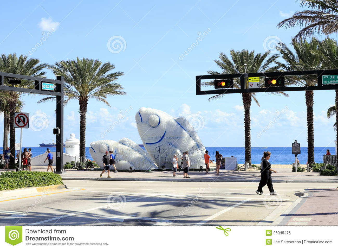 Fish sculptures at the beach editorial photo image 36045476 for Fishing in fort lauderdale