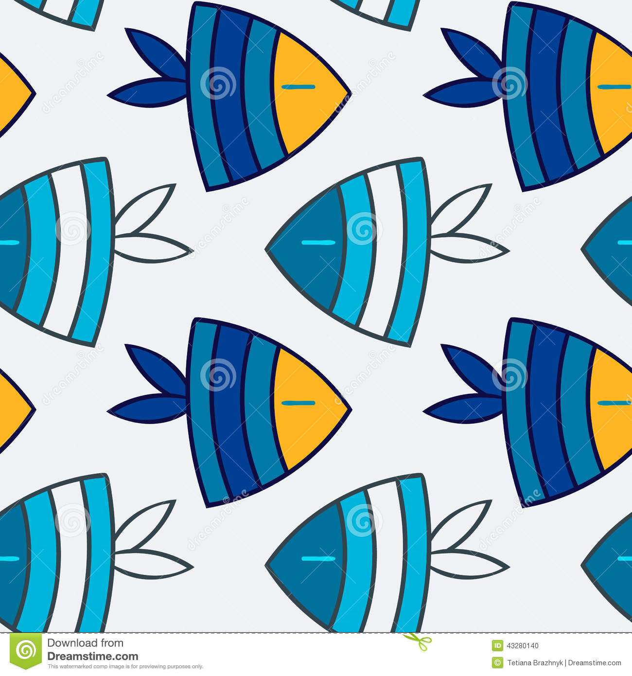 Fish seamless pattern stock vector image of nature for Seamless fish tank