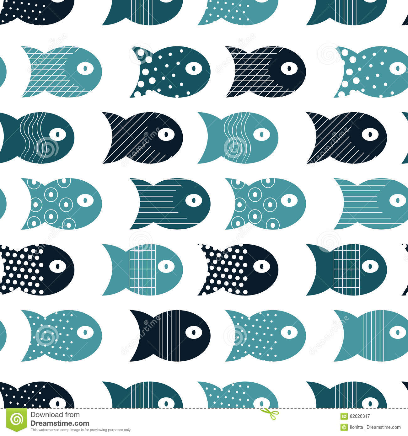 Fish seamless pattern for fabric textile design pillows for Fish pattern fabric