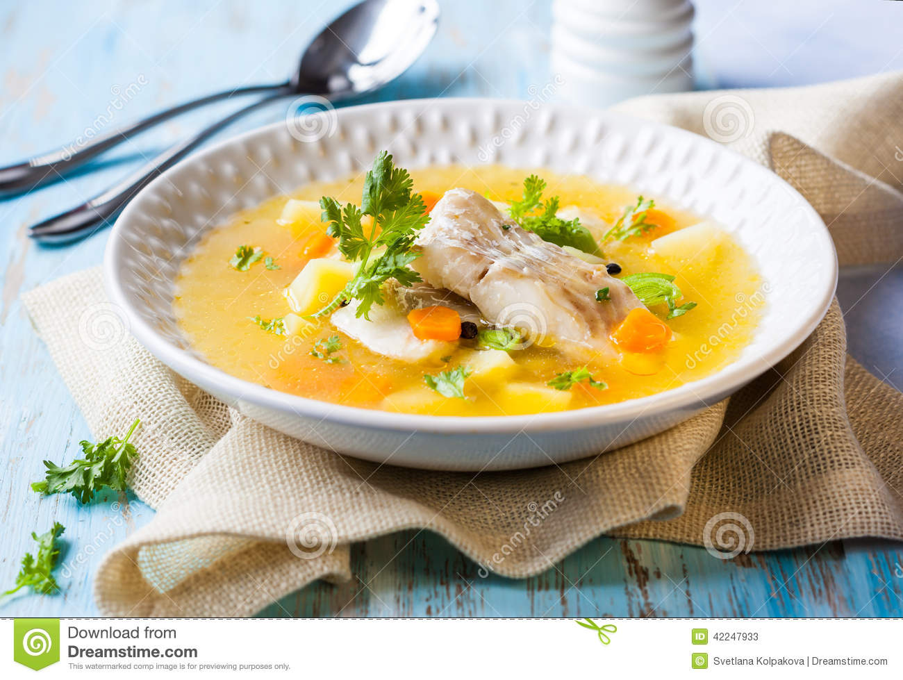 Fish soup stock image image of restaurant lunch carrot for Fish soup cod