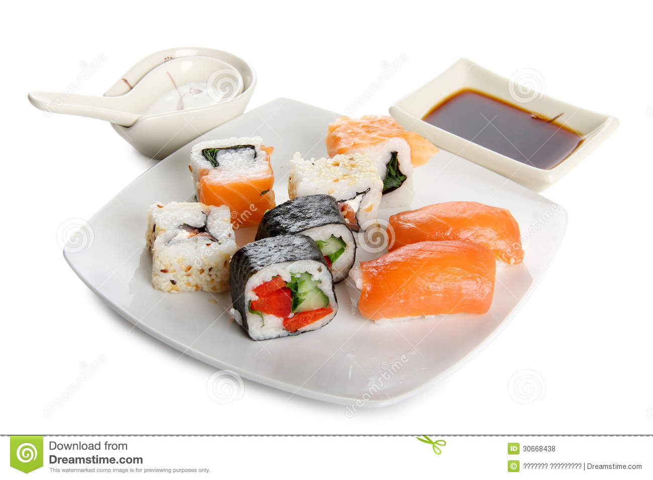 Fish sushi royalty free stock photos image 30668438 for Where to buy fish for sushi