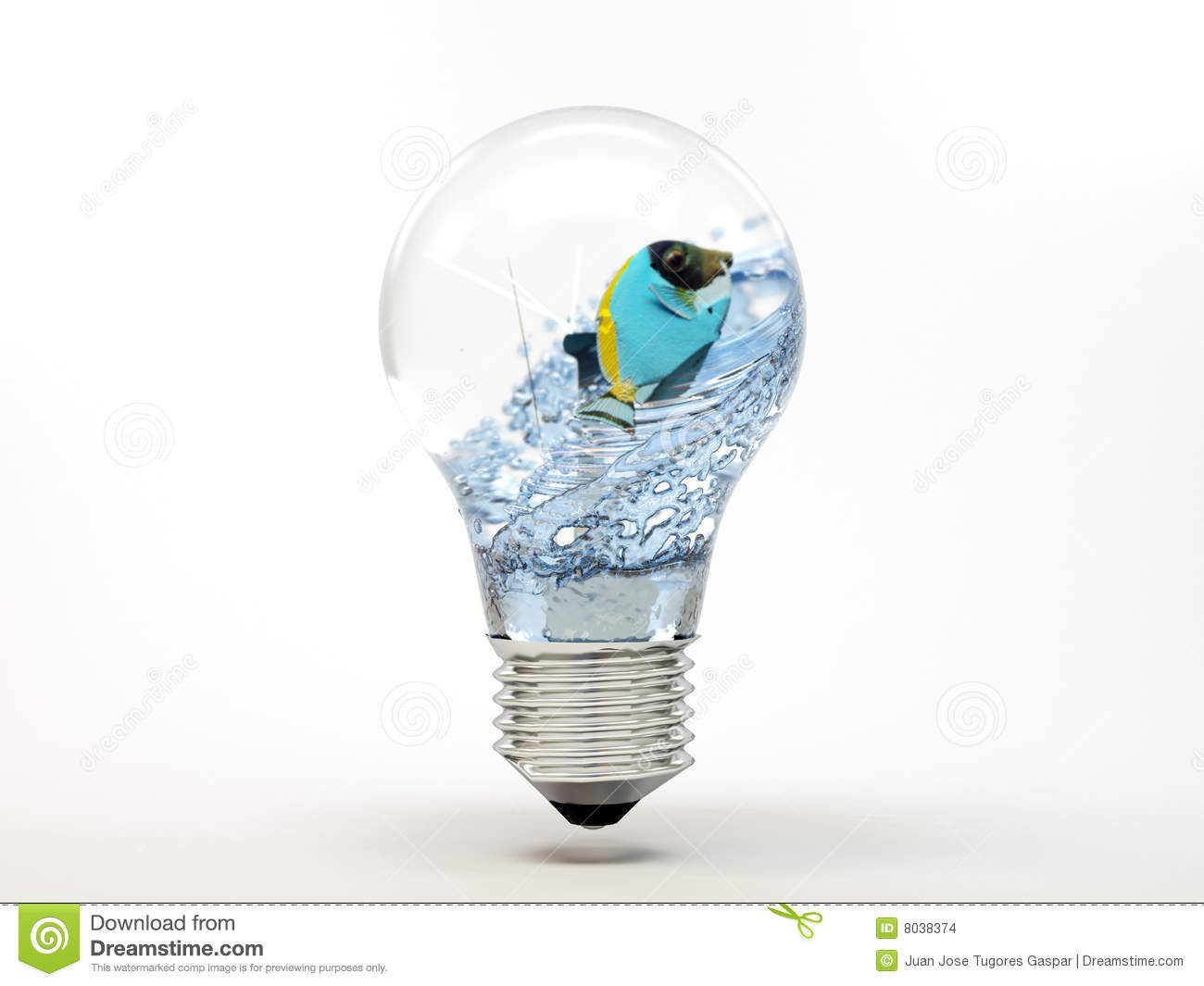 Fish swimming in light bulb stock photo image 8038374 for Dream of fish swimming