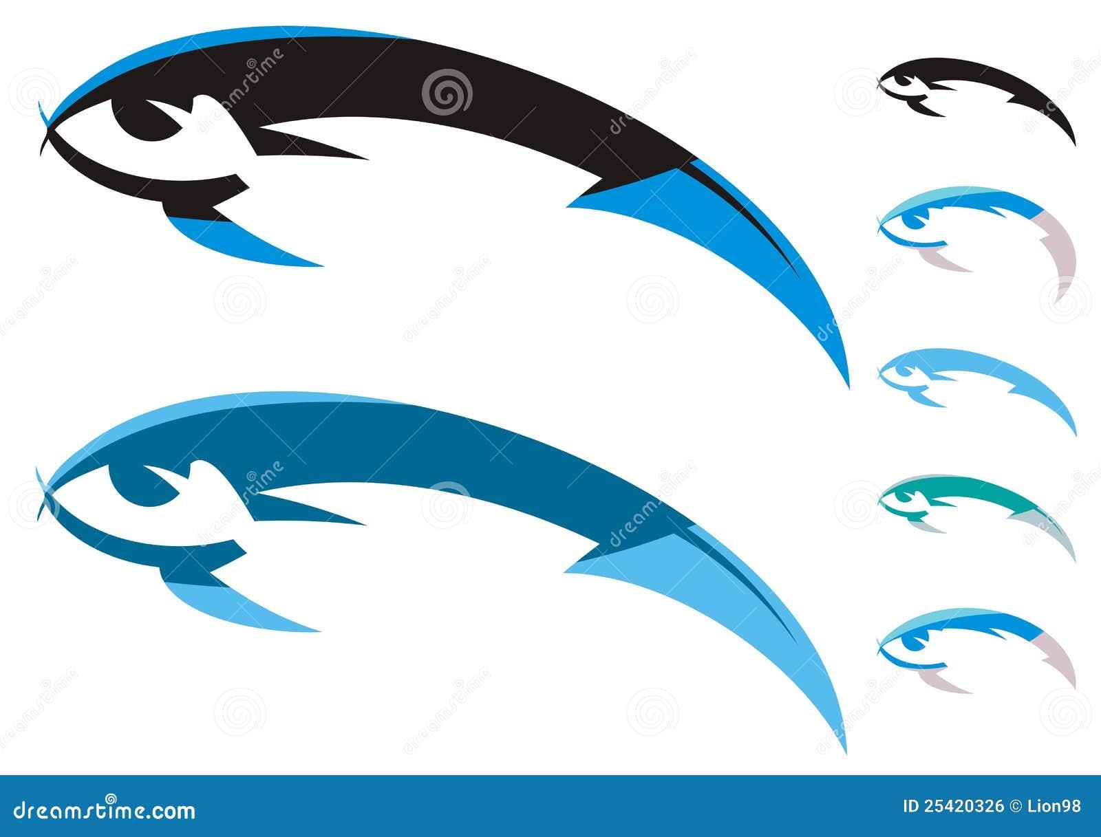 Fish symbols stock vector illustration of ocean nature for Dream interpretation fish