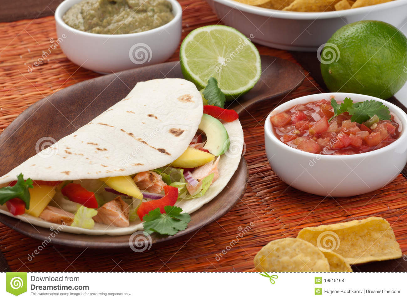 Fish Tacos Stock Photo Image Of Grilled Salsa Avocado 19515168