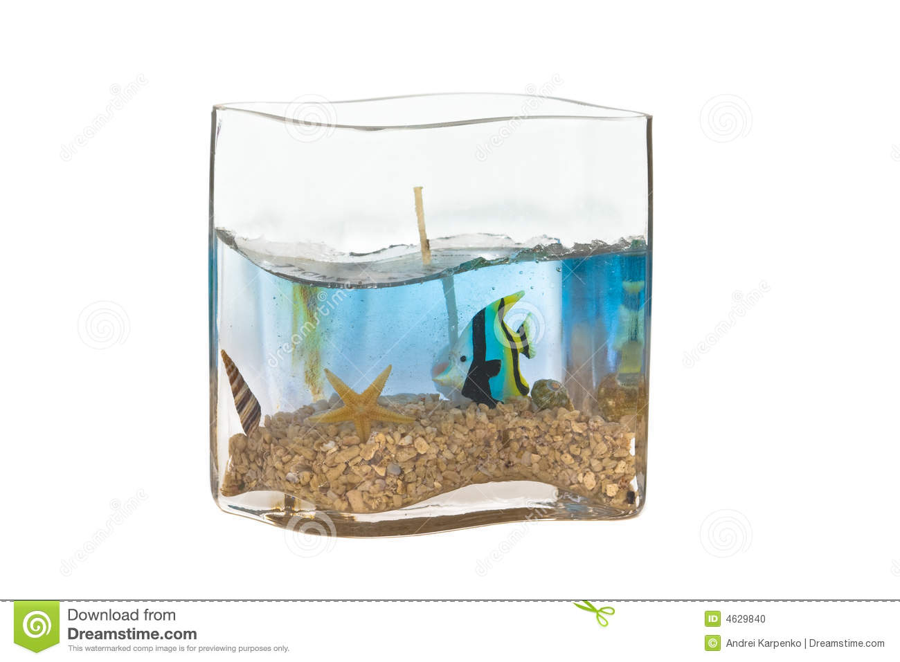 Fish tank candle stock photo image 4629840 for Fish stock tank