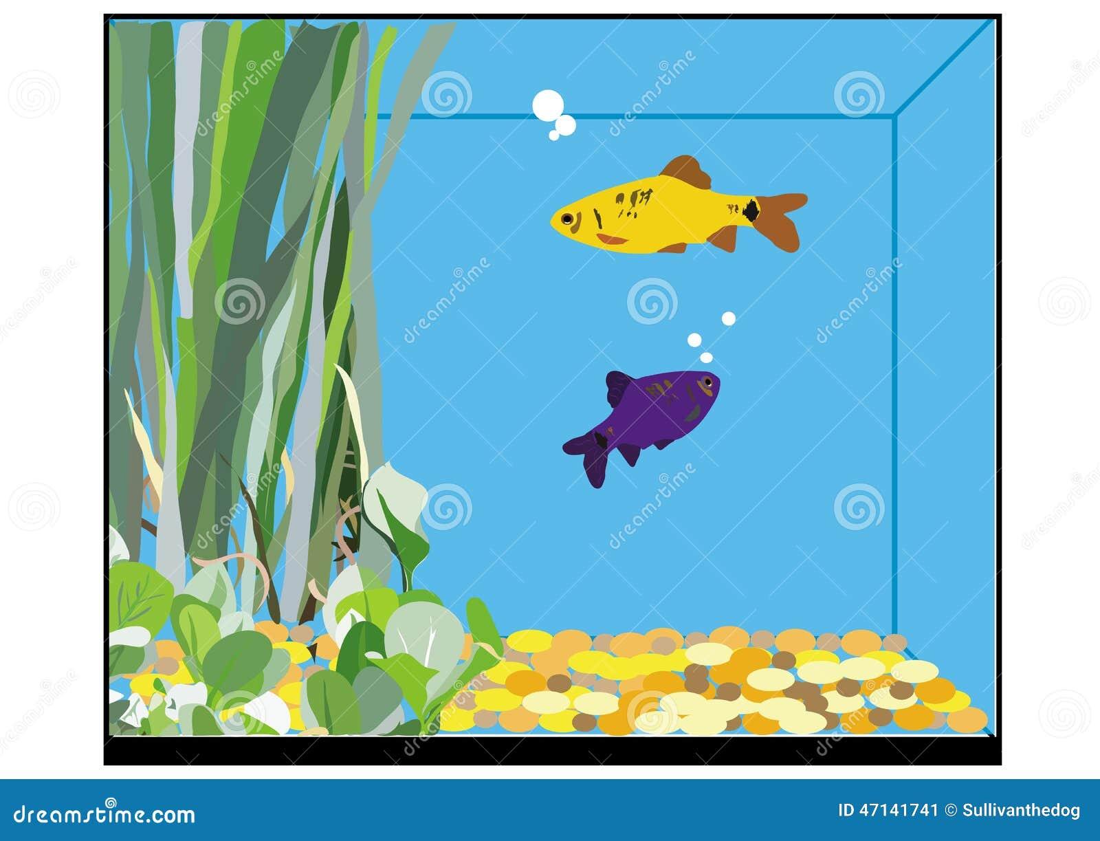 Fish tank clipart - A Fish Tank Stock Image