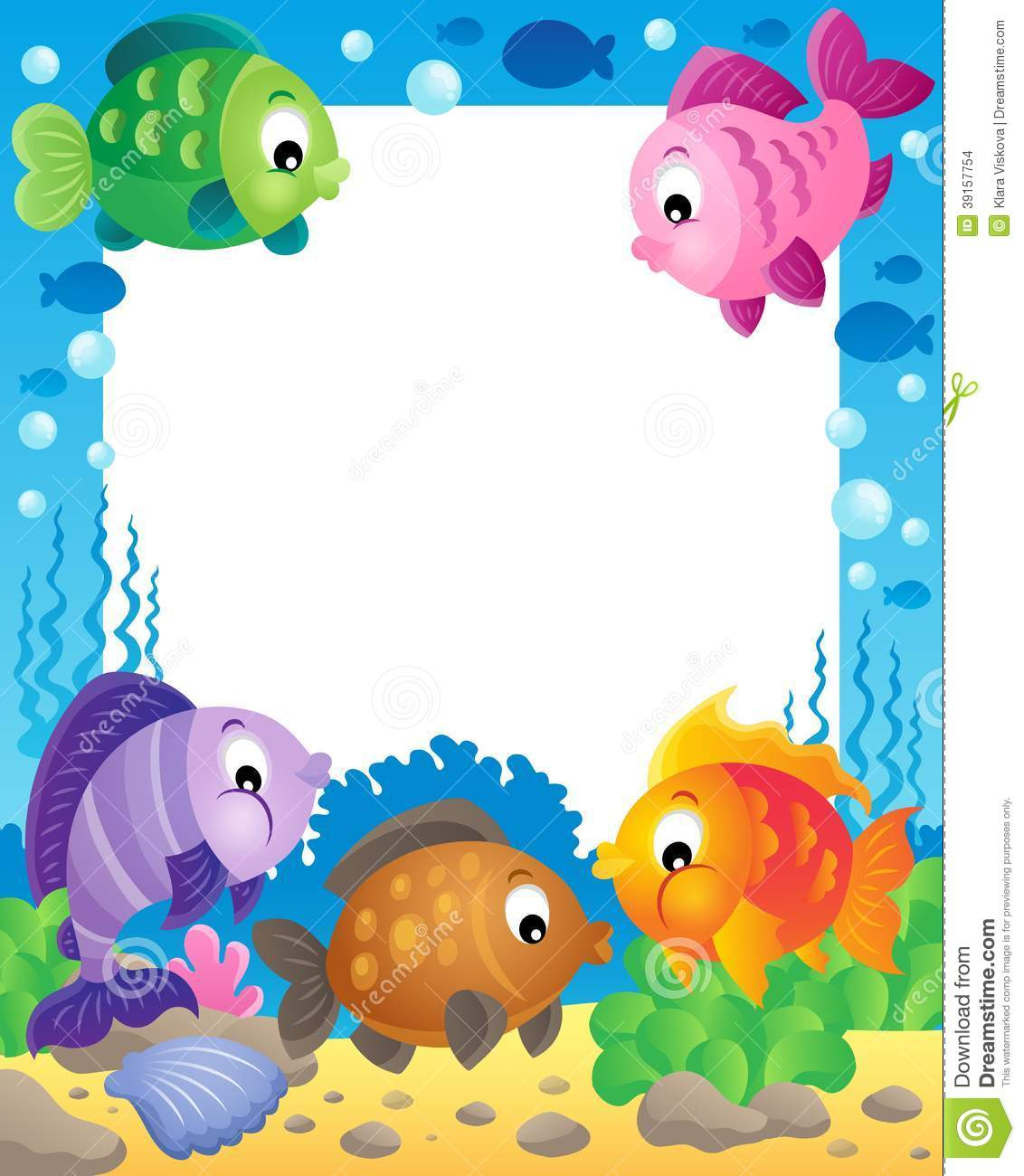 fish theme frame 1 stock vector illustration of eps10