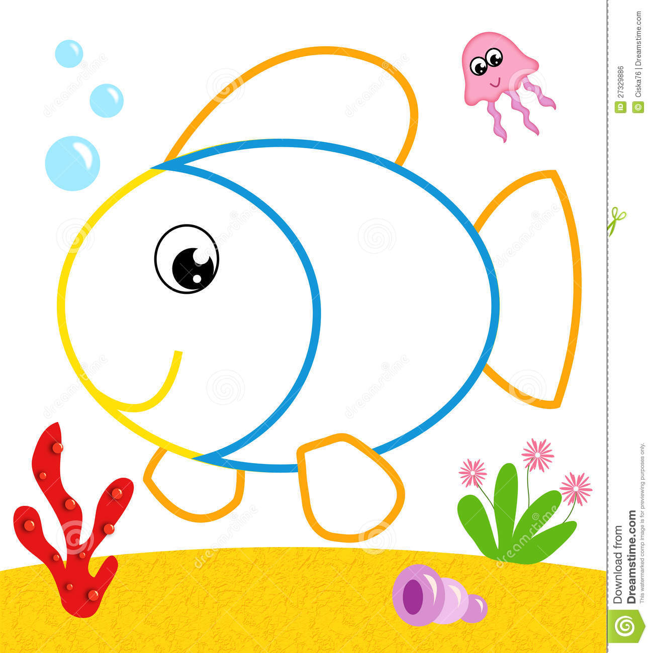 puffer fish clown fish coloring page portfolio wordpress themes