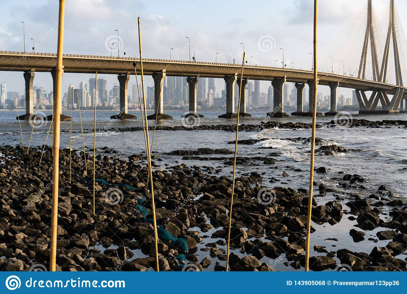 Fish traps in Mumbai.