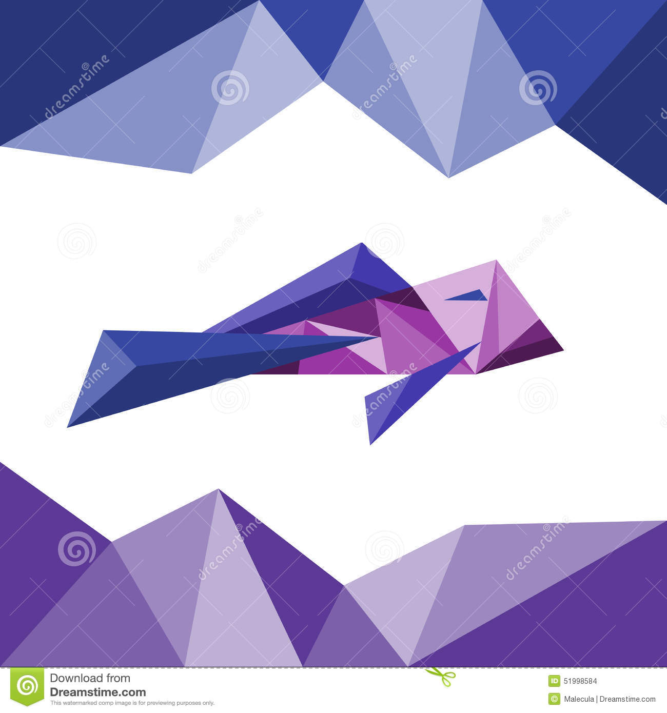 Fish In Triangle Style. Polygon Abstract Stock Vector ...