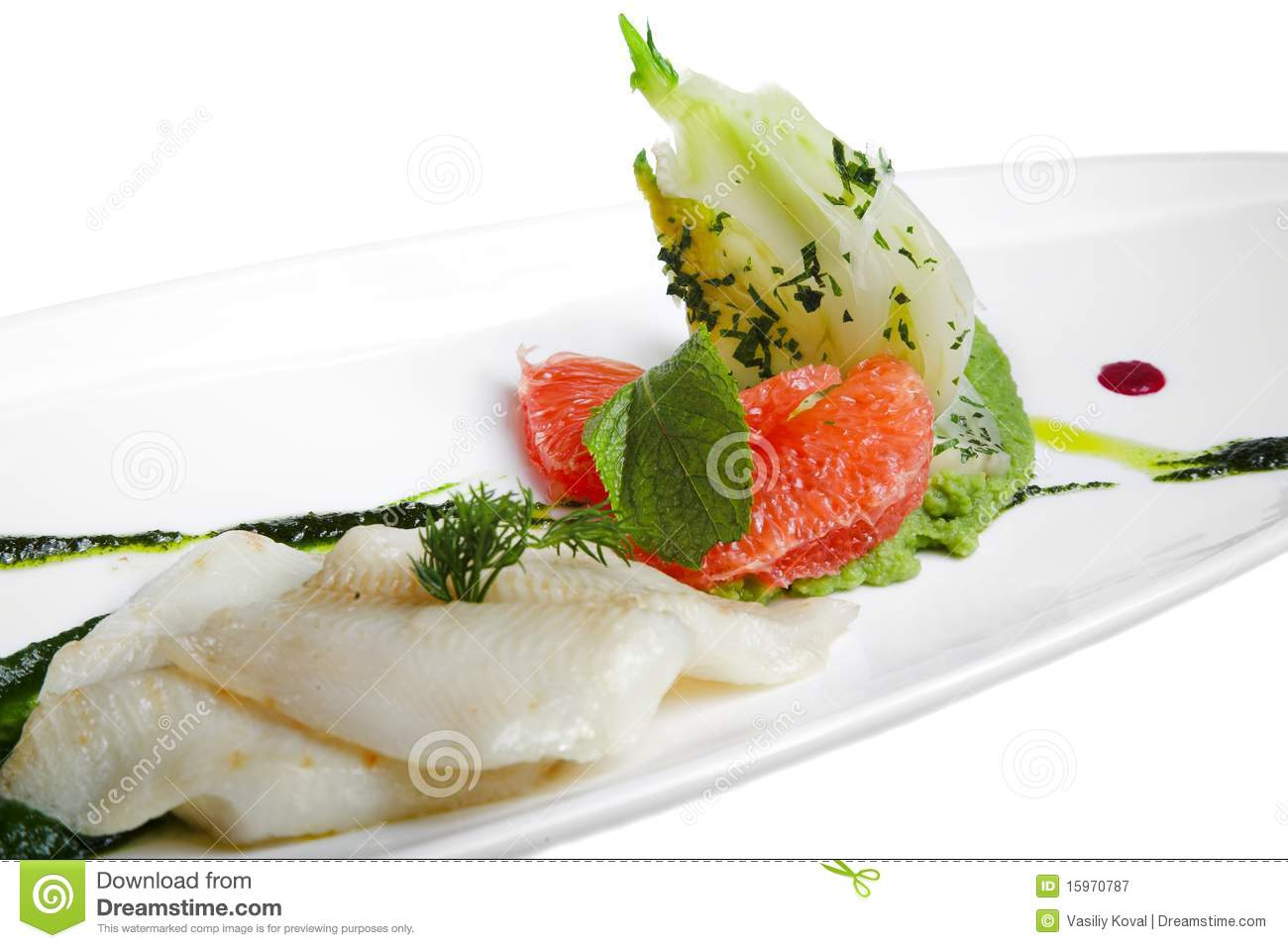 Fish with vegetables royalty free stock photography for What vegetables go with fish