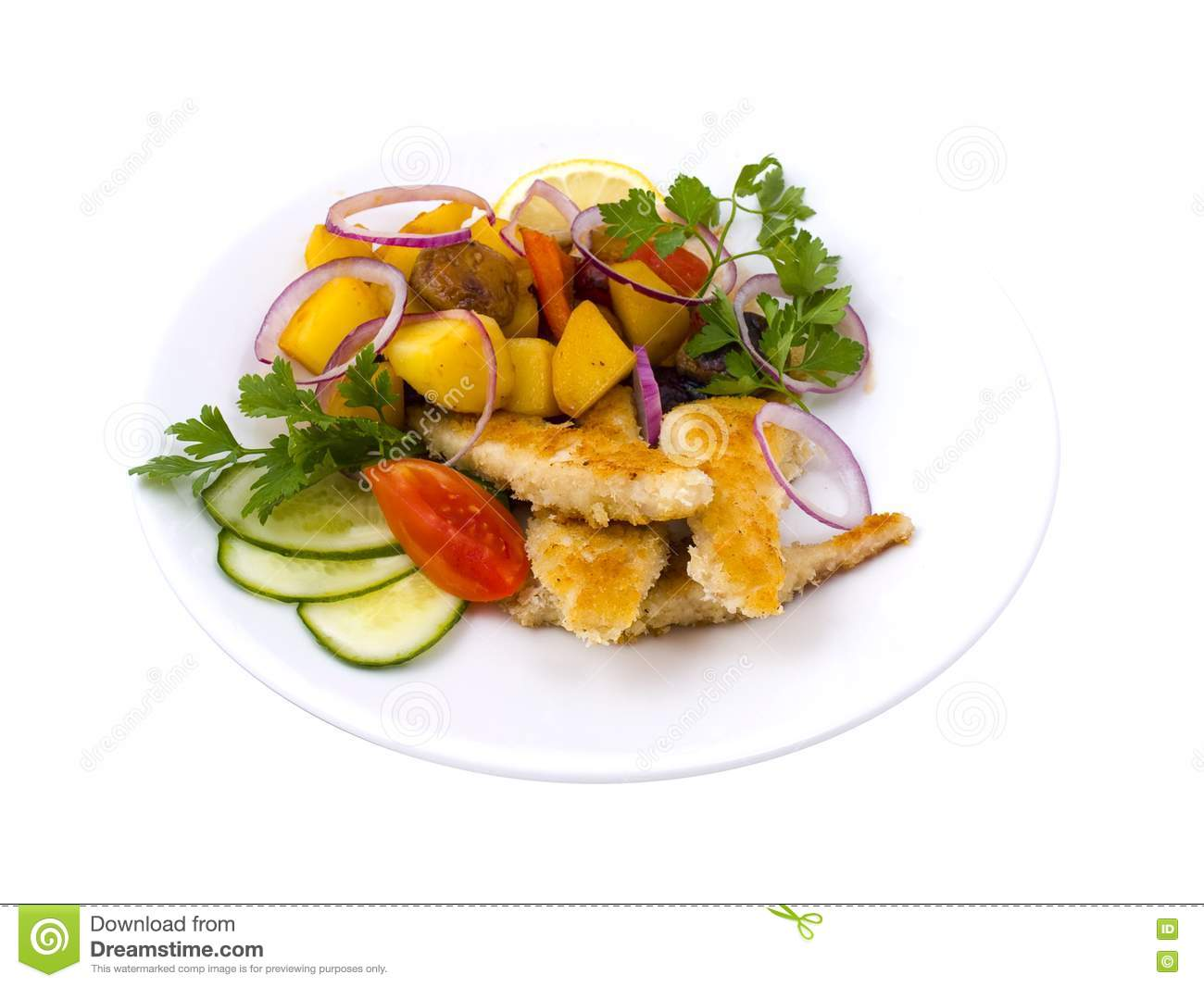 Fish with vegetables royalty free stock photo image for Fish with vegetables
