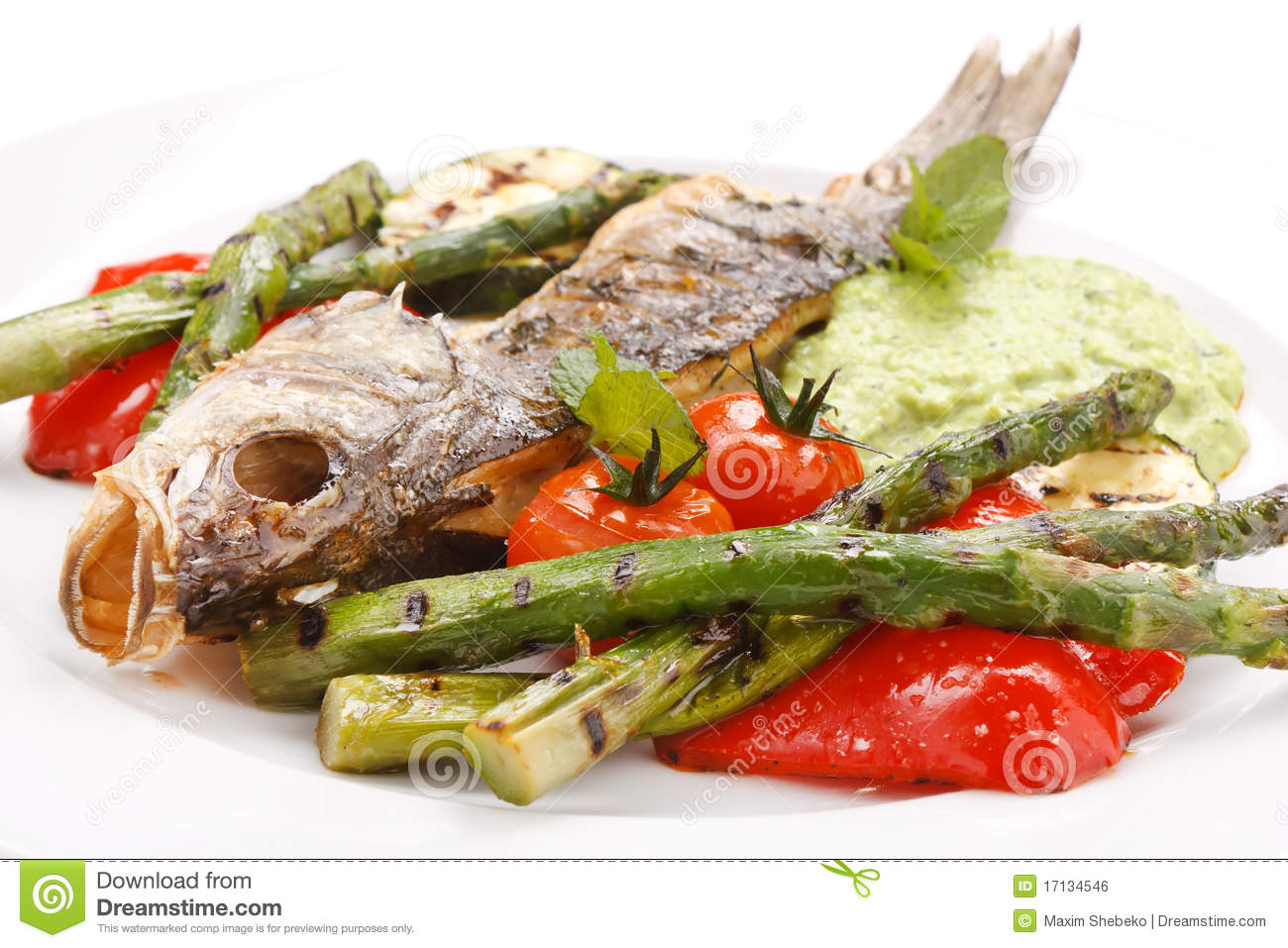 Fish with vegetables royalty free stock image image for What vegetables go with fish