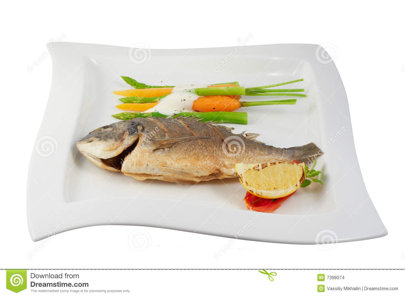 Fish with vegetables stock images image 7398074 for What vegetables go with fish