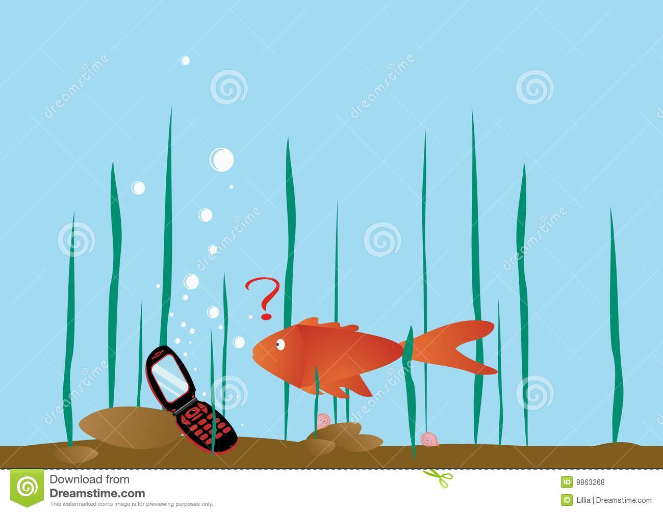 the fish was finding phone royalty free stock photos seaweed vector background seaweed illustration vector