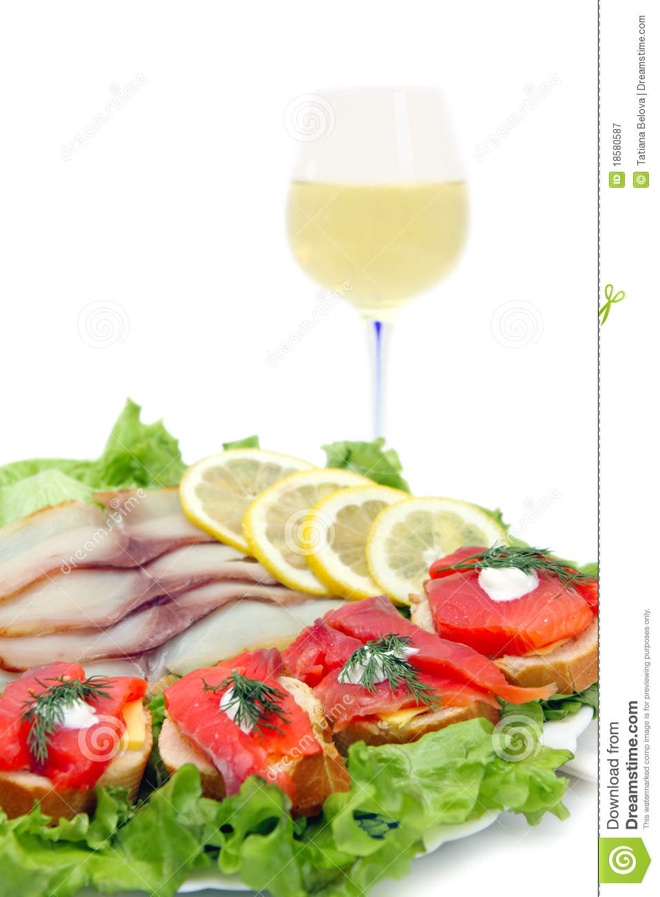 Fish and white wine royalty free stock photography image for White wine with fish