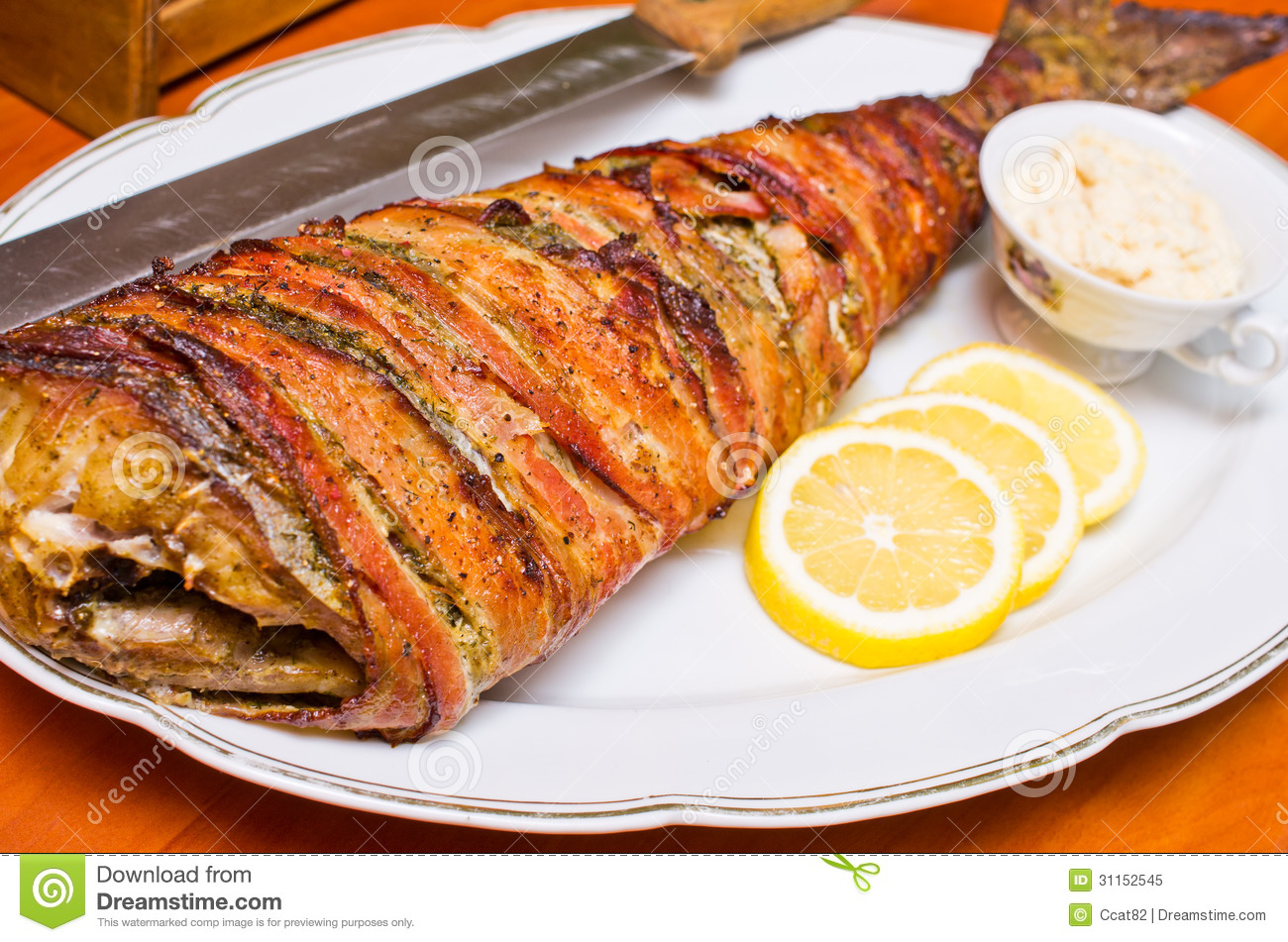 Fish Wrapped In Bacon Royalty Free Stock Photo - Image: 31152545
