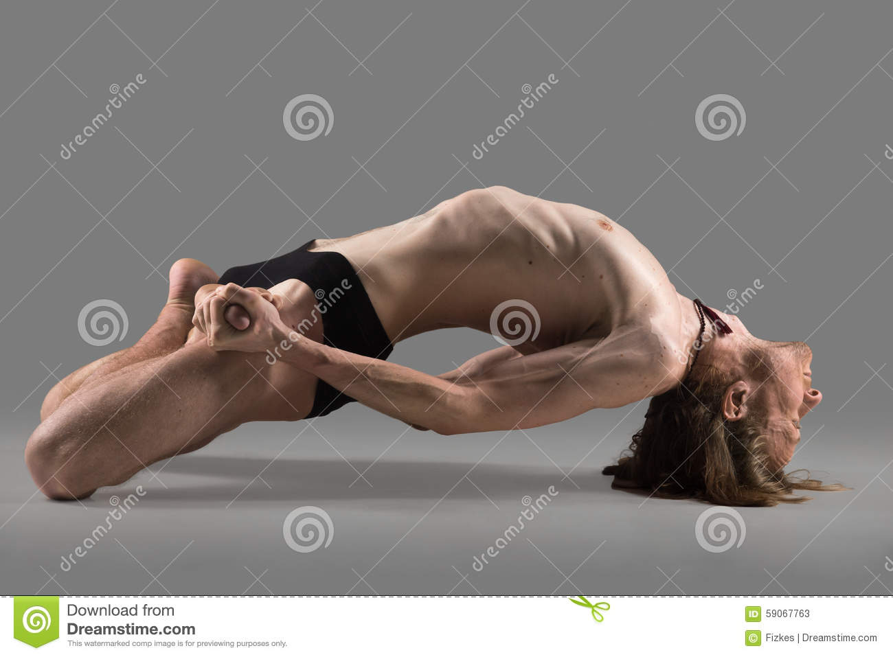 Fish Yoga Pose Stock Photo Image 59067763